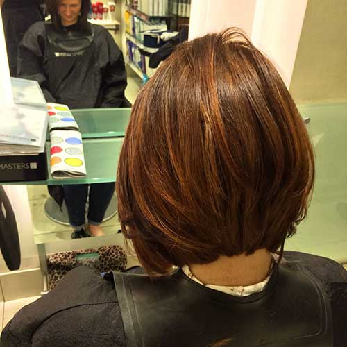 Beautiful Chestnut Brown Bob Hair