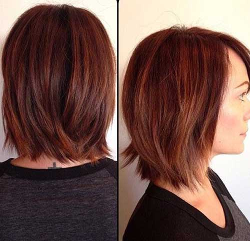 Cinnamon Brown Long Bob