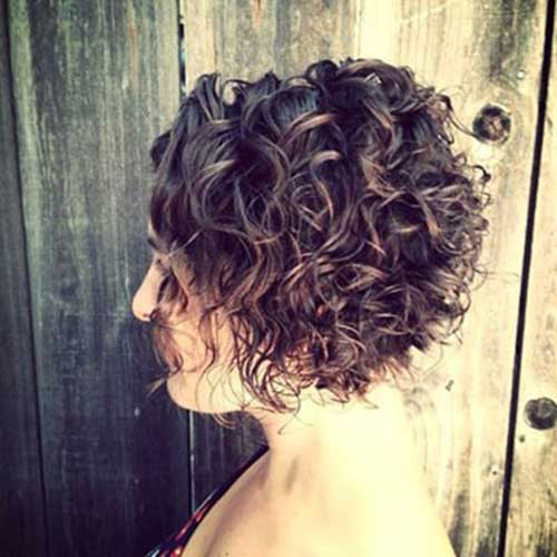 Curly Stacked Short Bob Hairstyles