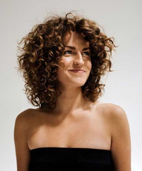 Curly Short Layered Bob Hairstyles