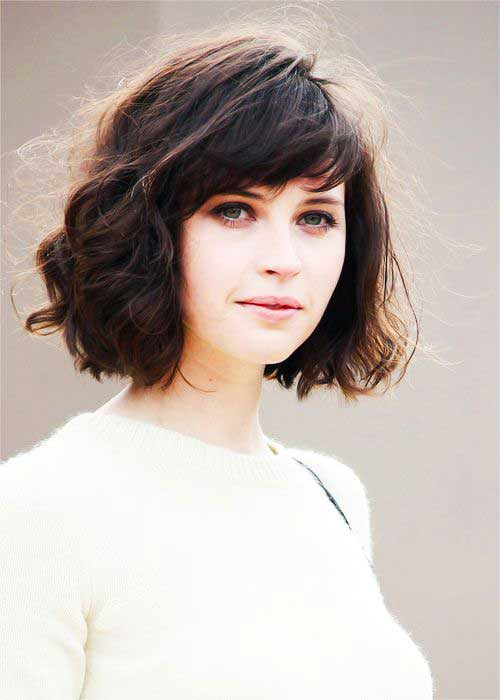 bob haircuts for thick curly hair bob haircuts with bangs for wavy hair hair 5268