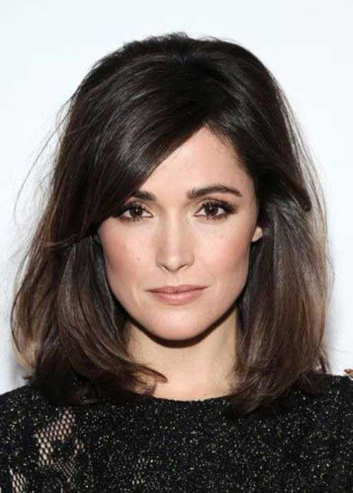Rose Byrne Dark Hair Bobs
