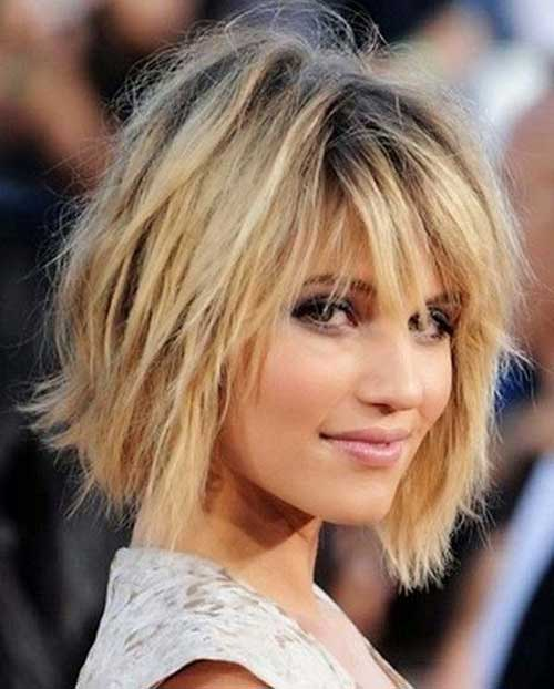 Dianna Agron Short Shaggy Haircuts 2015