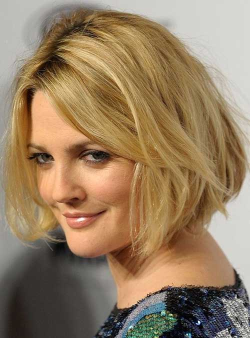 Drew Barrymore Shaggy Bob Hairstyle