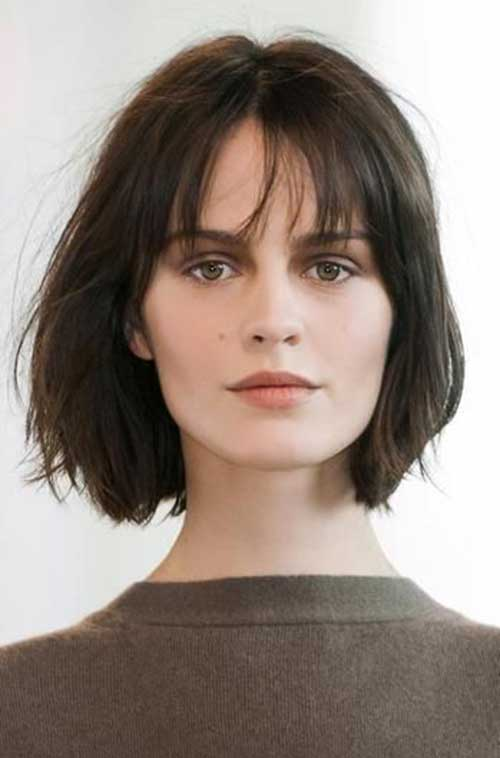 French Short Bob Hairstyles with Bangs