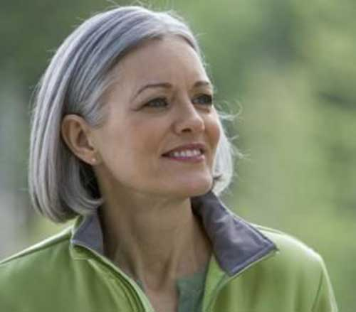 Grey Bob Hairstyles for Older Women