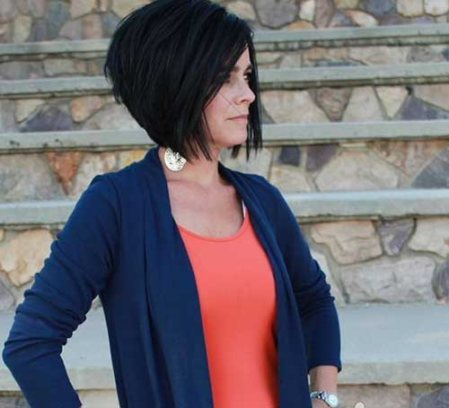 Inverted Dark Bob Hairstyles 2015