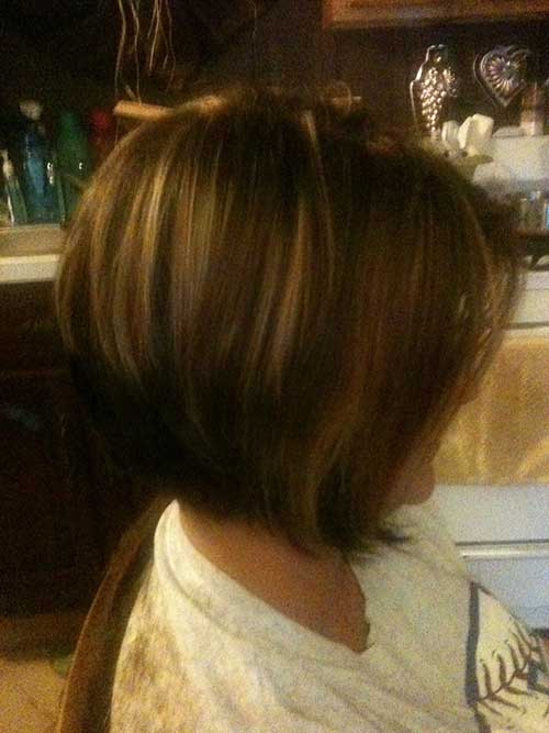 Inverted Brown Bob Styles
