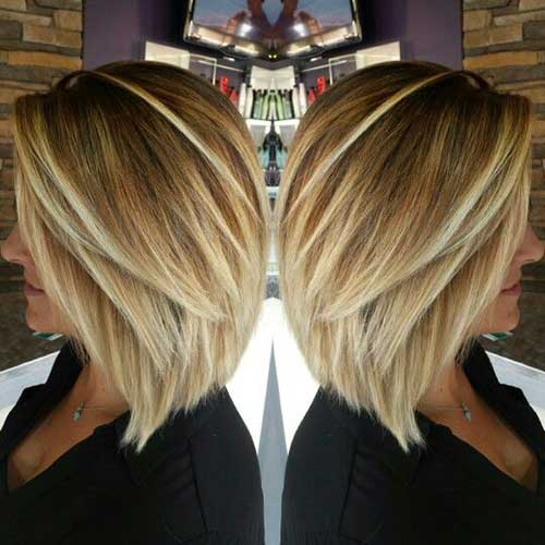 Inverted Straight Blonde Hair Bob Styles