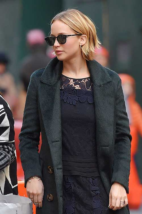 Jennifer Lawrence Crop Bob Haircuts
