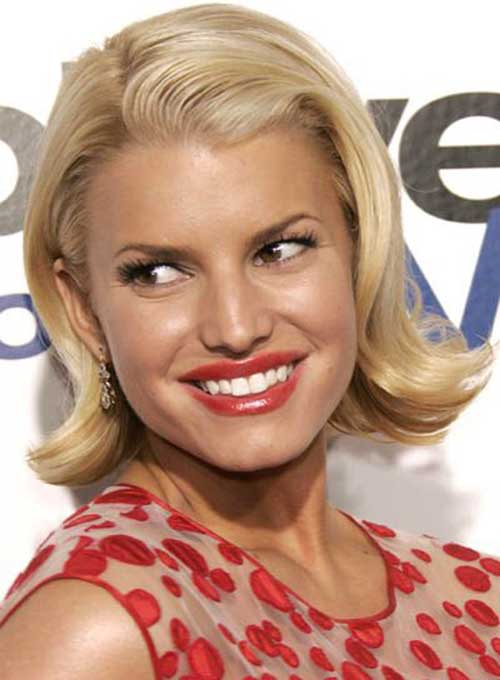 Jessica Simpson Blonde Bob Hair
