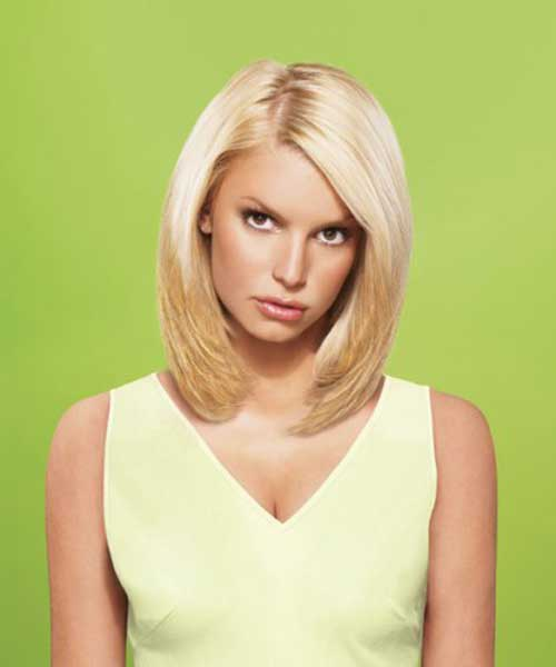 Jessica Simpson Fine Hair Bob Cut