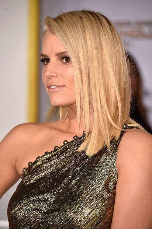 Jessica Simpson Long Bob Hair