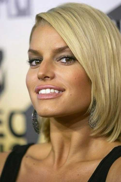 Jessica Simpson Staright Hair Bob Cut