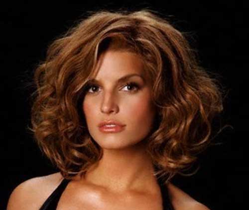 Jessica Simpson Thick Curly Bob Hair