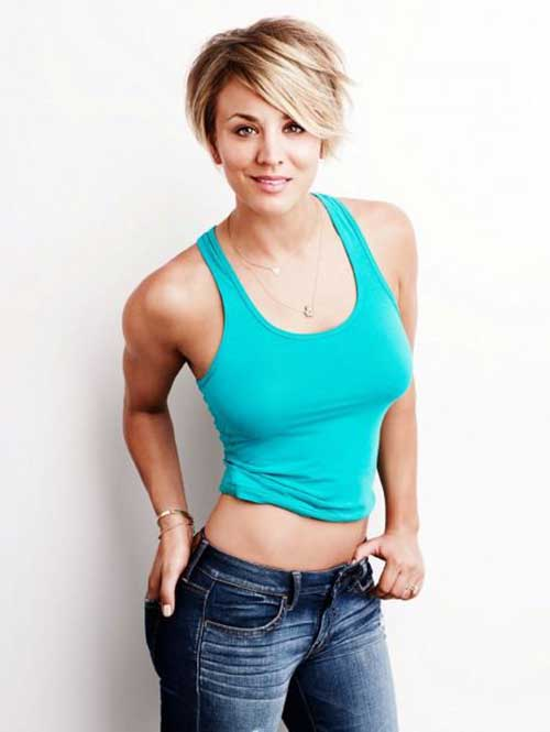 Kaley Cuoco Pixie Bob Cut Styles