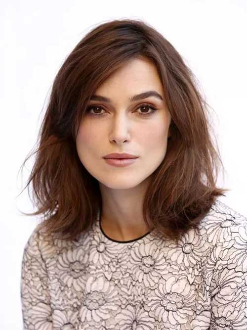 Keira Knightley Shoulder Length Bob Hair