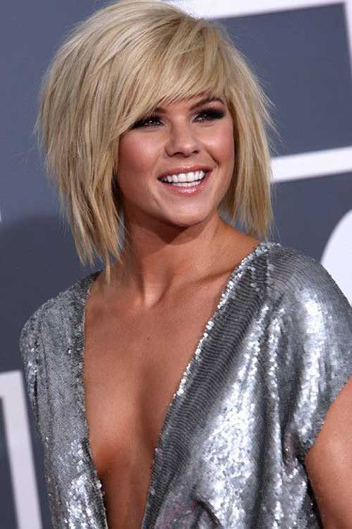 Kimberly Caldwell Thick Bob Hairstyles