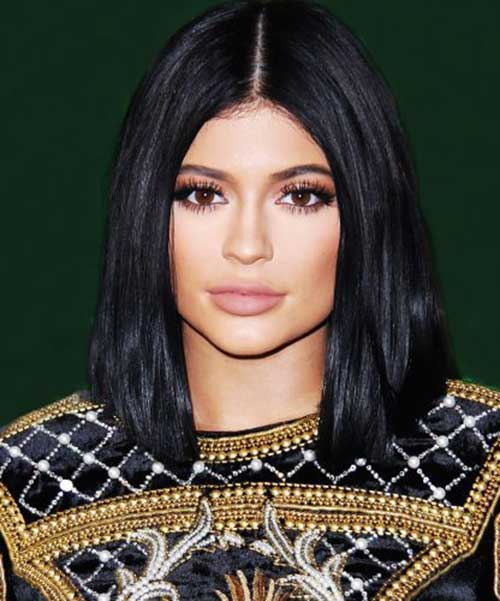 Kylie Jenner Short Black Bob Hair