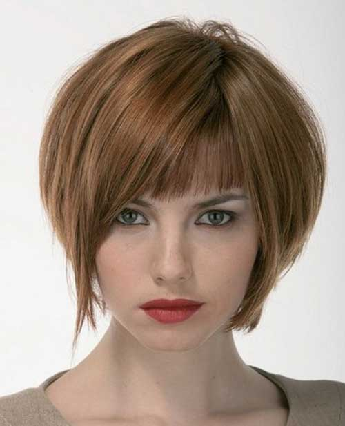 Best Layered Short Bob Hairstyles with Bangs