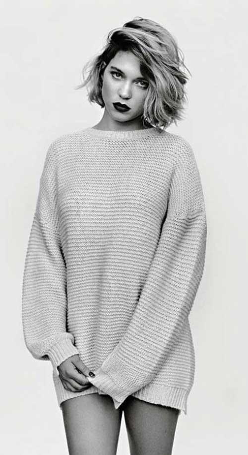 Lea Seydoux Short Bobs Hair 2016