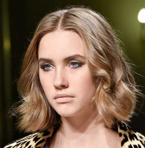 Light Brown Tousled Bob Haircuts