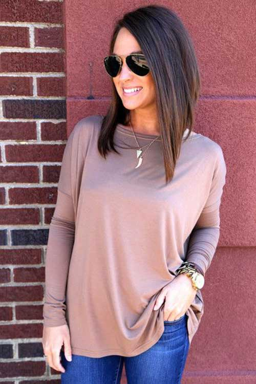 Long A Line Inverted Bob Styles