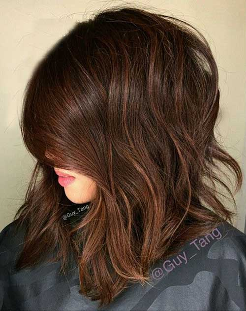 Long Brown Bob Hair
