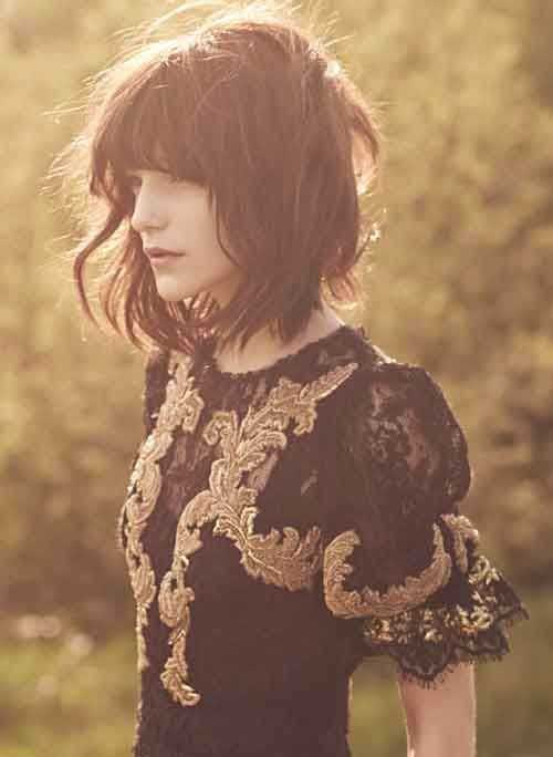 Best Long Wavy Bob with Bangs