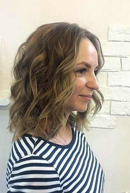 Long Wavy Brown Bob Hairstyles