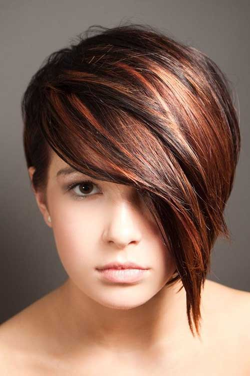 Low Asymmetrical Bob Haircut