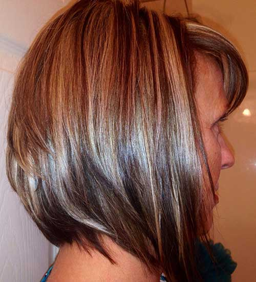 Highlighted Low Bob Haircut