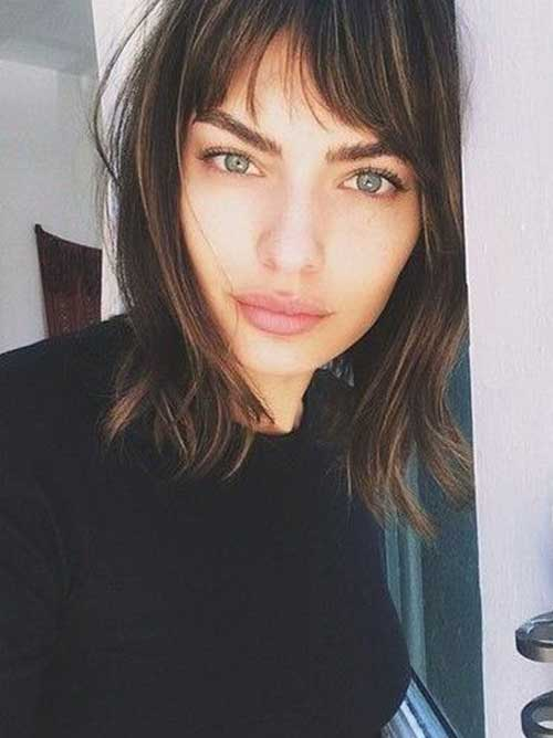 Best Messy Bob with Bangs