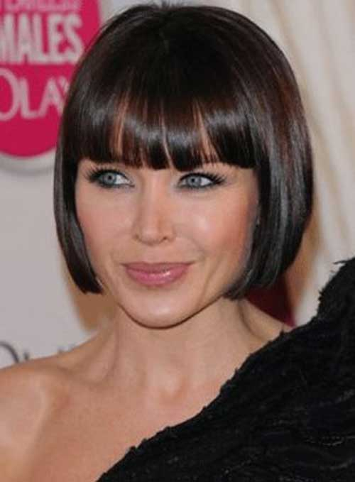 Nice Short Straight Hairstyles with Bangs 2015