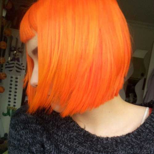 Orange Bob Hair Cuts