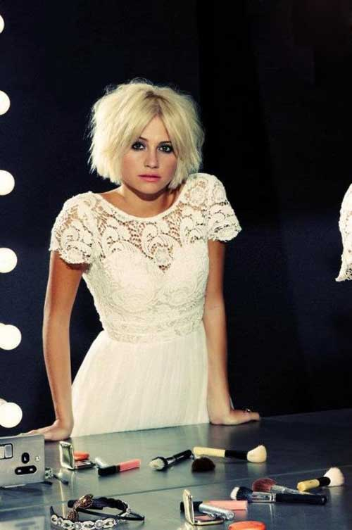 Pixie Lott Blonde Bob Hairstyles