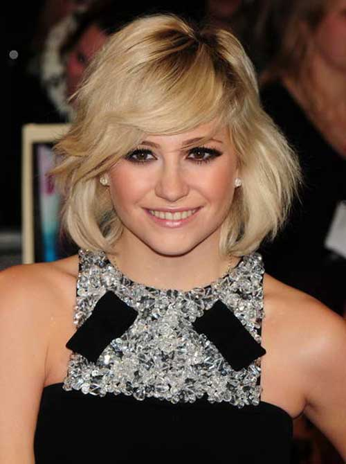 Pixie Lott Layered Bob Cut