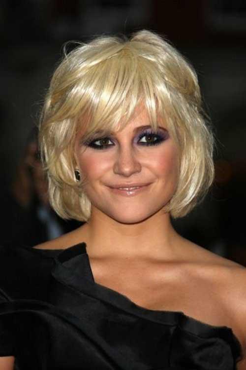 Pixie Lott Shinny Blonde Bob Cut