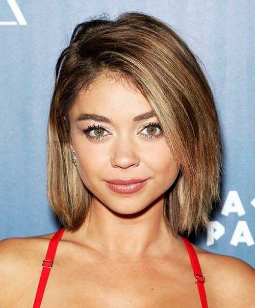 Sarah Hyland Blonde Short Bob Hair