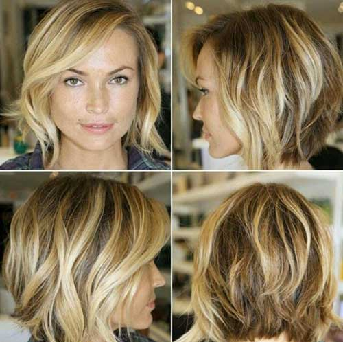Shaggy Wavy Long Bob Hairstyles