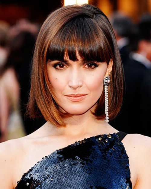 Chic Short Blunt Bob with Bangs
