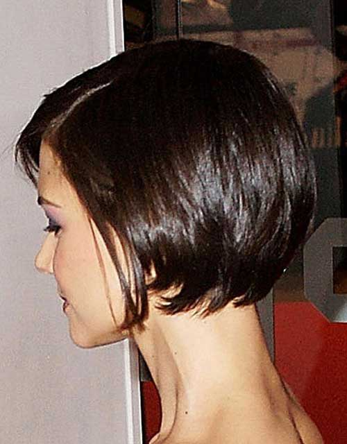 Short Dark Bob Back View