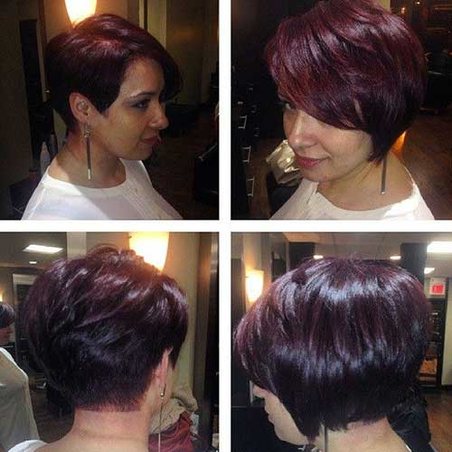 Short Dark Bob Hairstyles 2015