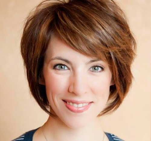 Best Short Brown Bobs Hair with Highlights