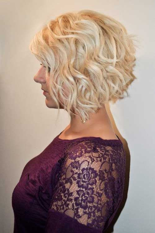 Inverted Short Curly Bobs
