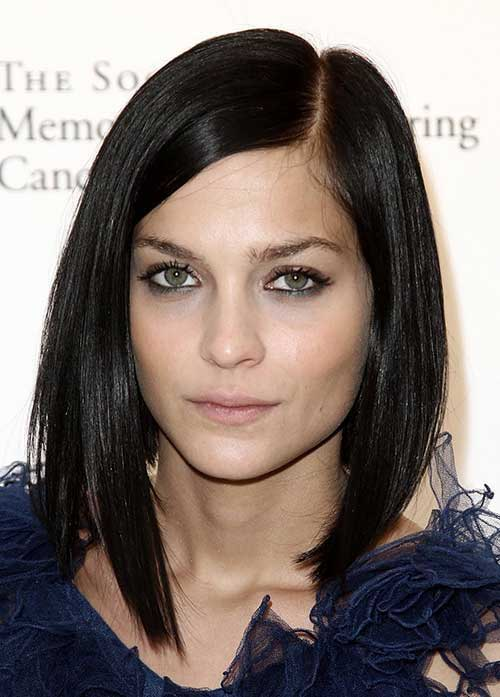 Short Dark Long Bob