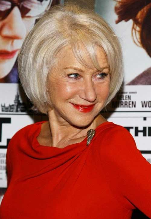 Short Bob Haircuts for Women Over 60