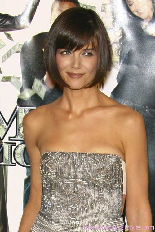 Short Layered Bangs Bob Hairstyles