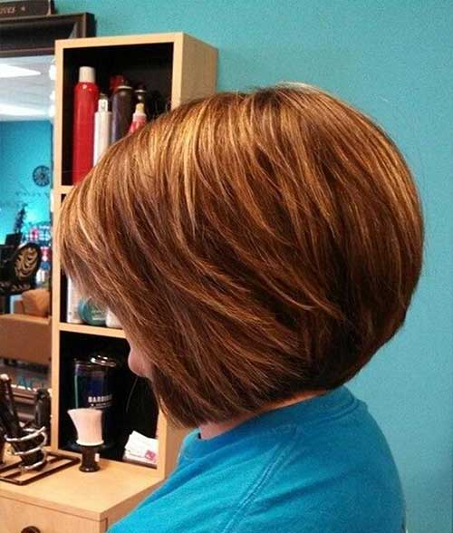 Stacked Short Layered Bob Haircuts