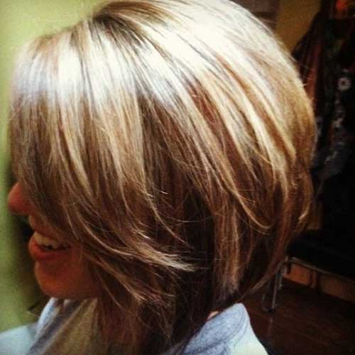 Short Layered Brown Bobs
